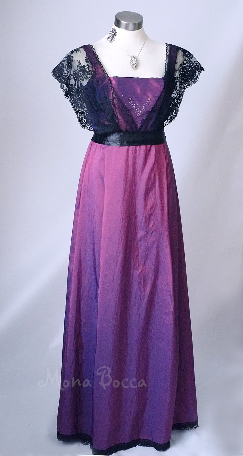 Edwardian Dress Handmade In England Purple Mona Bocca