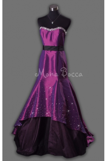 purple taffeta dress