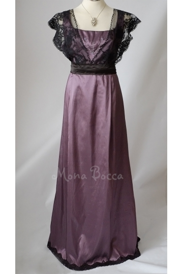 Edwardian Dress HANDMADE to ORDER in England Titanic Downton Abbey vintage styled with lace and Swarovski crystals