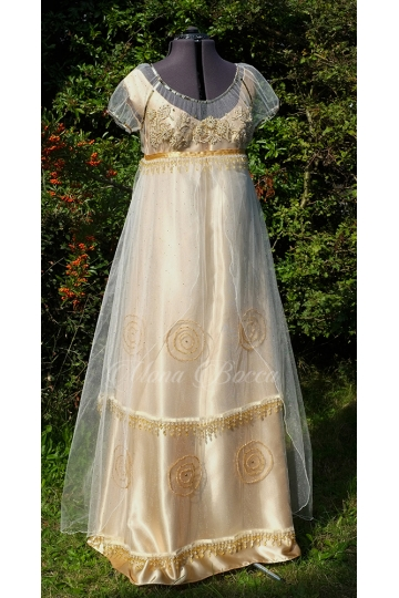 Golden Regency dress