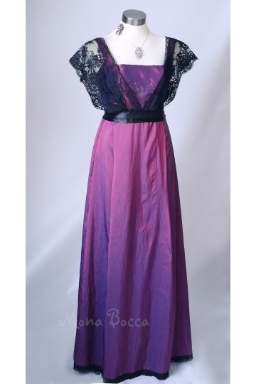 Purple Edwardian Dress handmade in England