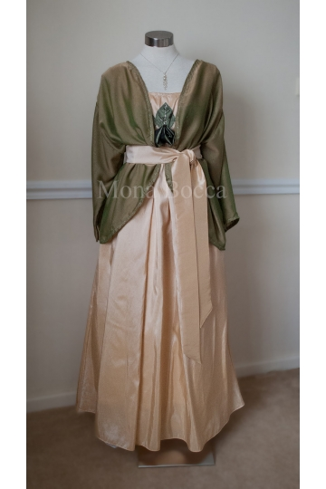 Edwardian dress handmade to order in England with jacket