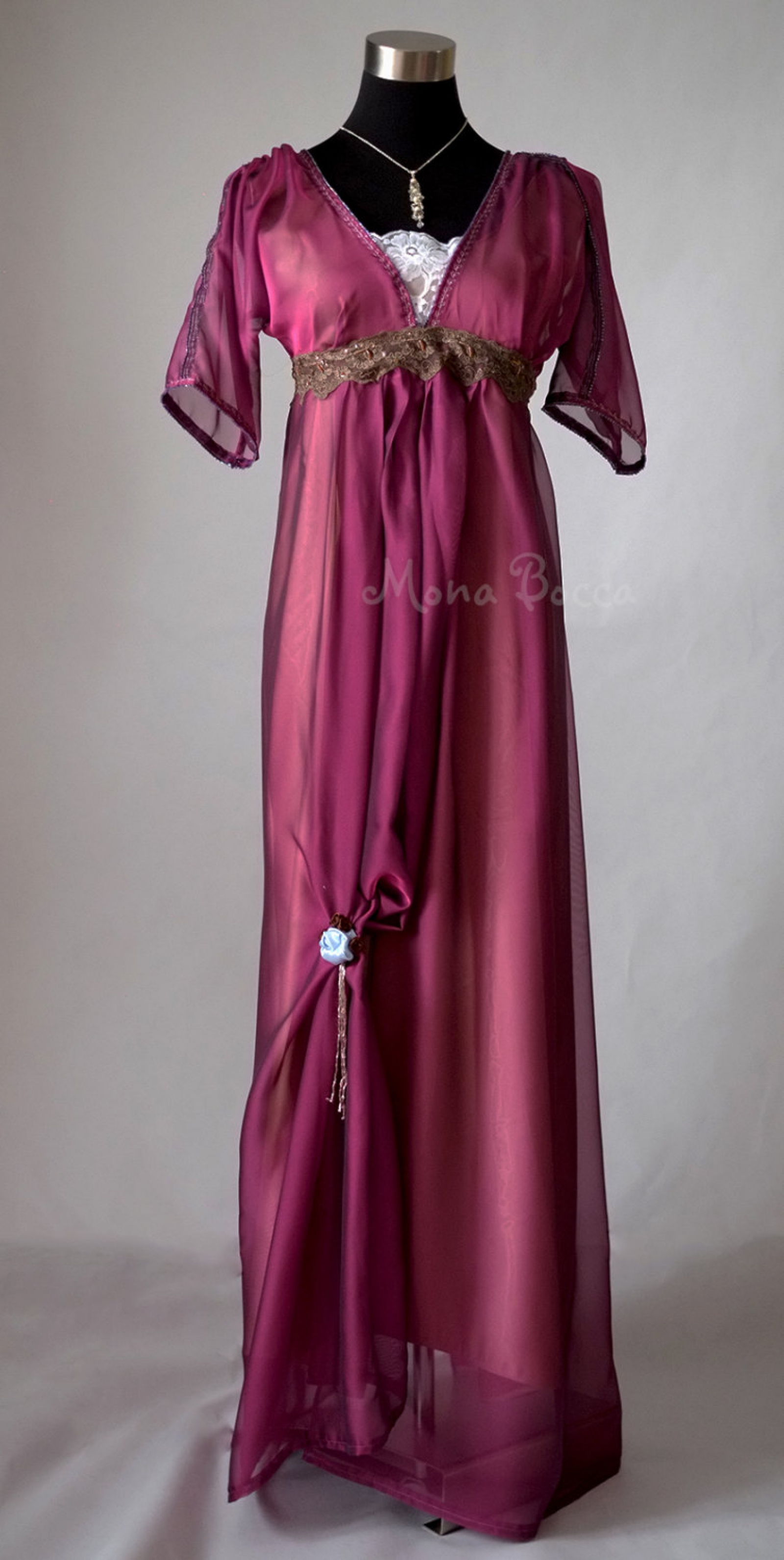 Edwardian Purple Evening Dress Handmade In England Downton