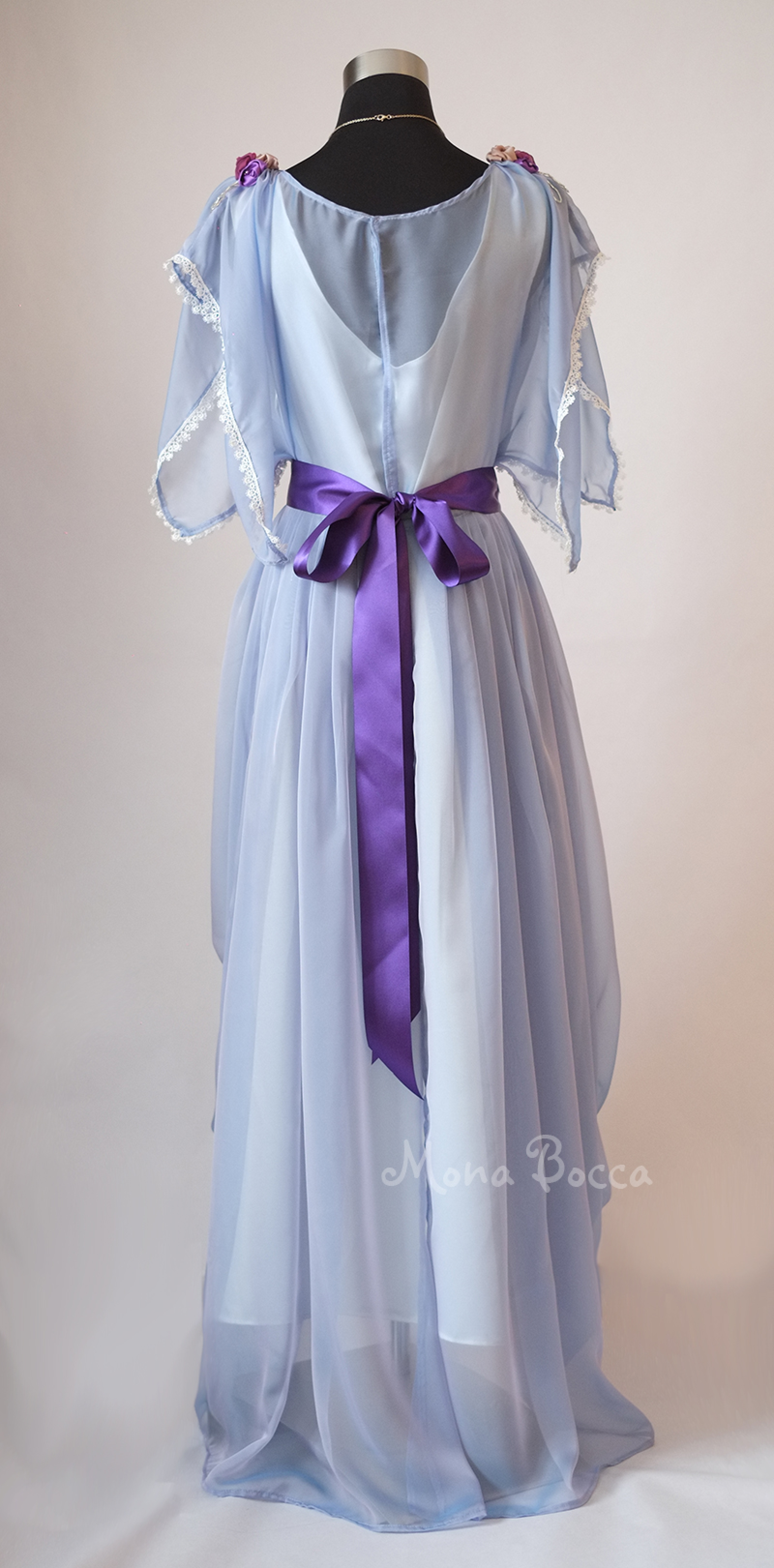 Edwardian Blue Evening Dress Handmade In England Edwardian