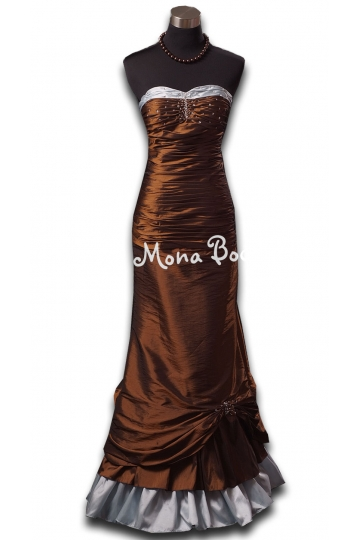 Victorian copper evening prom dress Edwardian ball gown Downton Abbey styled dress Wedding dress Made in the UK