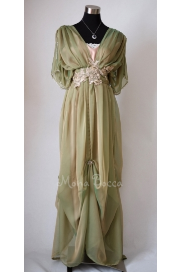 Edwardian dress Downton Abbey inspired handmade in England 1910 dress Lady Mary styled