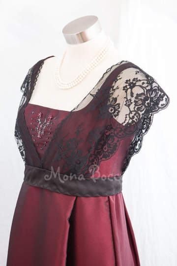 Edwardian Dress handmade in England Titanic Downton Abbey vintage styled with lace and Swarovski crystals