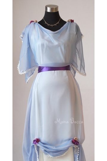 Edwardian light blue evening dress made in England Edwardian tea dress